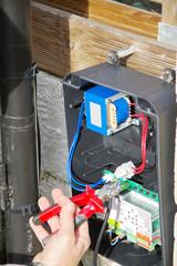 câblage d'un portail électrique