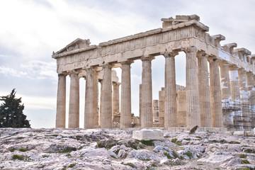 Acropolis of Athens. Ruins of Parthenon. Greece