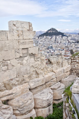 View from the Acropolis of Athens to the Athens suburb. Greece