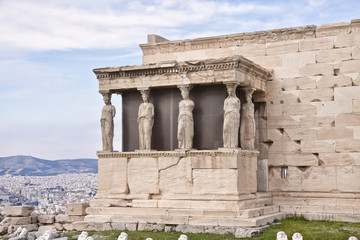 Erechtheion (Erechtheum). Acropolis of Athens. Greece