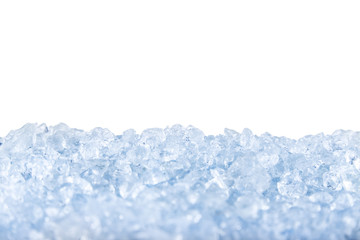 crushed ice background.