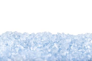 crushed ice background.