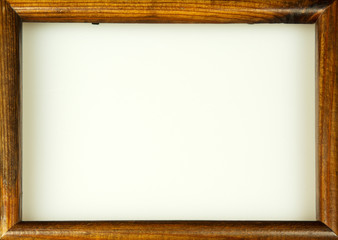 Empty wooden picture frame