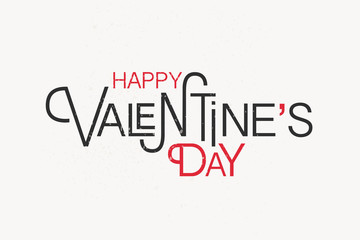 Hand sketched Happy Valentine's Day text as Valentine's Day logo