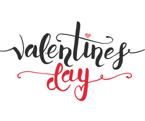 Hand sketched Valentine's Day text as Valentine's Day logotype,