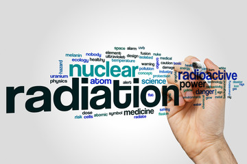 Radiation word cloud concept