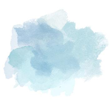 Design of Cold Blue Watercolor Splash for various decor.