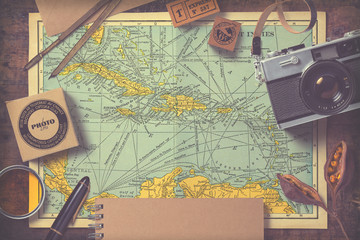 travel and photography inspired background/mock-up with vintage effect
