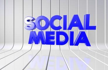 Sosyal Medya, İngilizce 3D Tipografi
