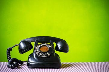 Old telephone.
