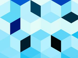 Абстрактный голубой фон с фигурами.