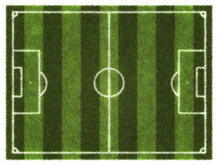 Soccer field. Aerial view