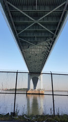 Underside of Bronx Whitestone Bridge (Queens side)