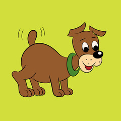 Illustration of an amusing puppy for the children's book