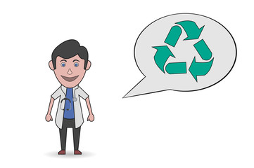 doctor recycling icon