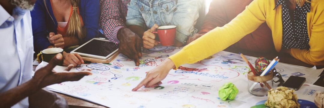 Teamwork Meeting Brainstorming Social Communication Concept