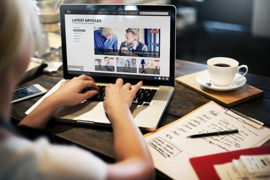 Lastest Article Webpage Advertising Announcement Concept