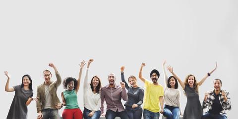 Diversity Friends Team Achievement Success Goals Concept