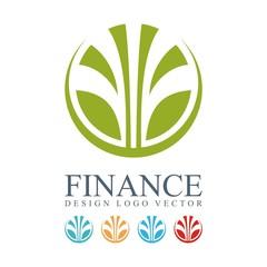 Finance Logo - Abstract Fountains Circle Design Logo Vector