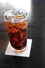 Cola in close up