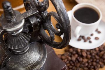 Mechanical antique coffee grinder