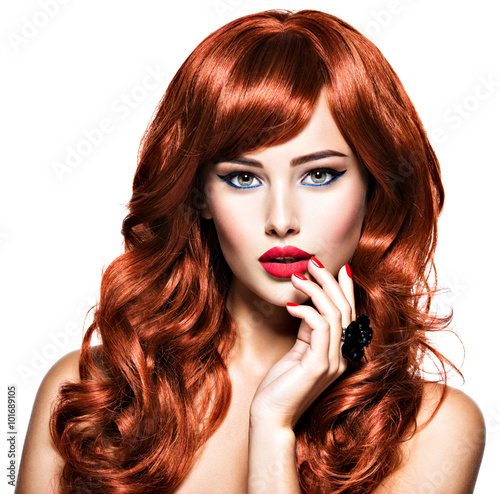 Sexy women with red hair