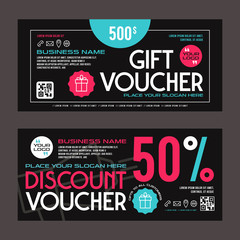 Discount and gift voucher template