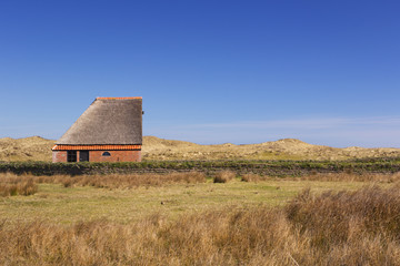 Traditional sheep barn on the island of Texel, The Netherlands
