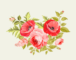 Background with poppies.