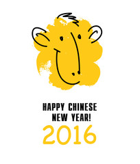 Chinese New Year postcard template.