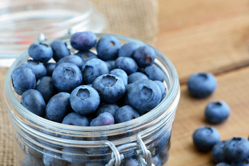 Blueberries / Heidelbeeren in Einmachglas