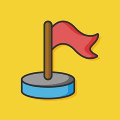 navigation flag vector icon