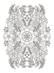 flourish floral coloring page