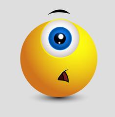 Shocked Single Eye Smiley