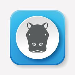 animal hippo icon