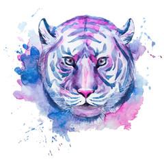 Watercolor raster tiger
