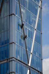 Abseilers on Broadwick Tower, London