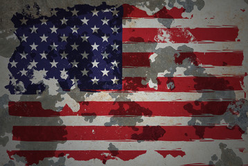 America, grunge flag
