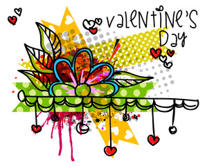 Bright abstract Valentine`s day background