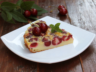 Homemade cakes - delicious clafoutis