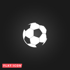 Football ball - soccer flat icon