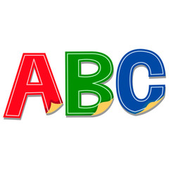 Illustration of ABC Stickers