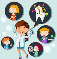 Dentist and eating habit of children