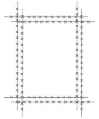 Stacheldraht-Rahmen