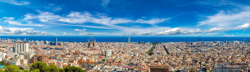 Canvas Prints Barcelona Panoramic view of Barcelona