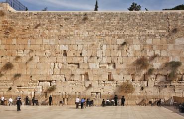 Western Wall in Jerusalem. Israel