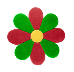 carpet in the form of a flower
