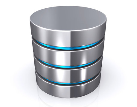 Database storage concept, cloud computing.