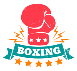 logo for boxing with glove