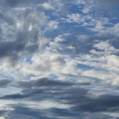 white cloudy and blue sky for weather background